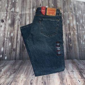 Men's Levi's 502 regular taper leg stretch jeans